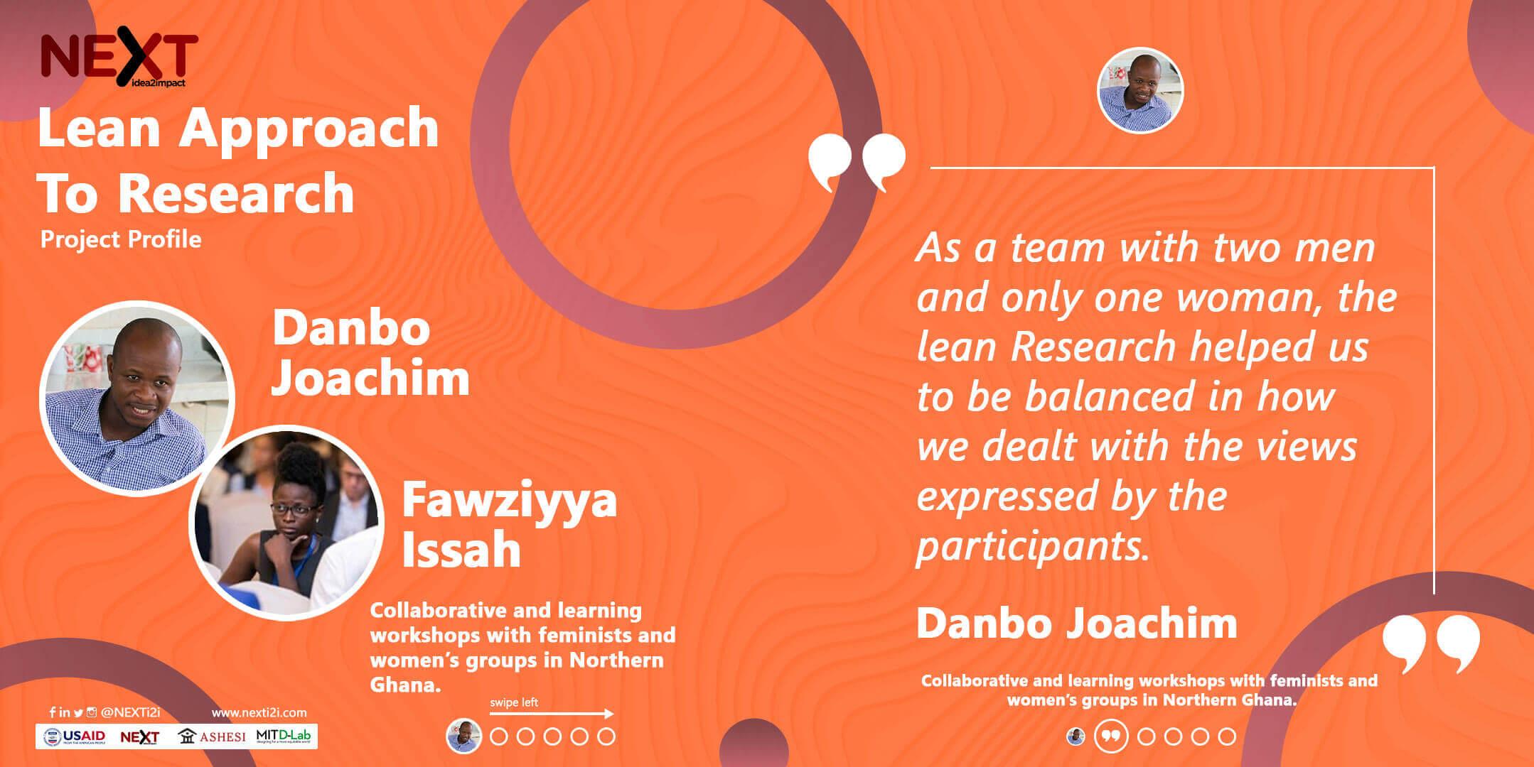 Ashesi Lean Research | Danbo
