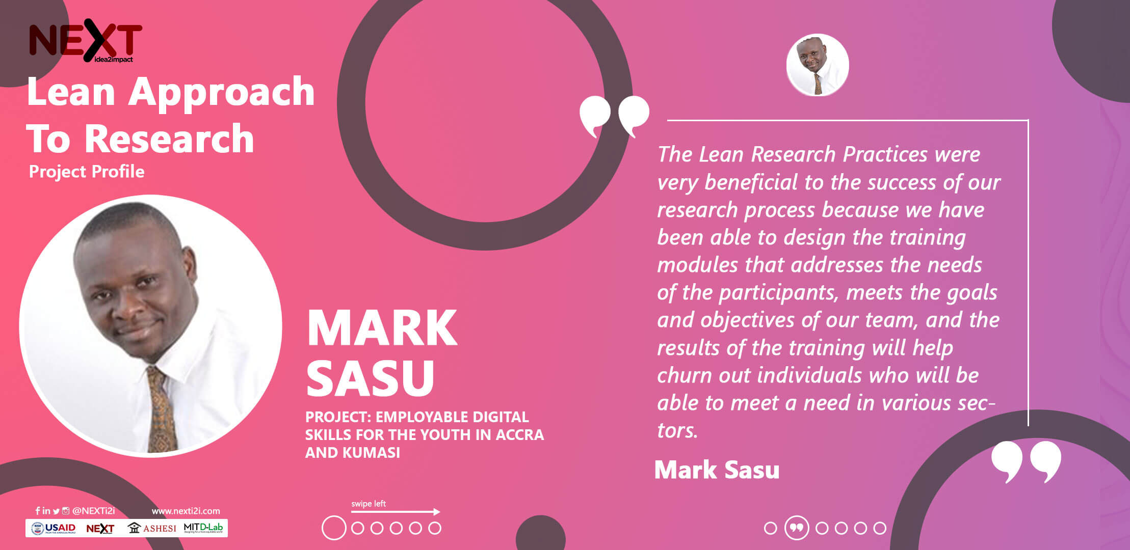 Ashesi Lean Research Projects | Mark